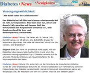 Diabetischer Fuss Interview Amputierten Initiative e.V.